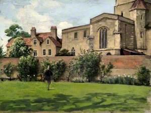 Canon Elliott in the Vicarage Garden at Bierton, Buckinghamshire
