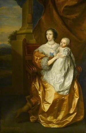 Henrietta Maria (1609–1669), with Prince Charles (1630–1685)