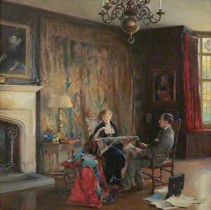 Lord and Lady Lee of Fareham in the Great Hall at Chequers