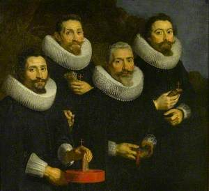 Portrait of Four Gentlemen