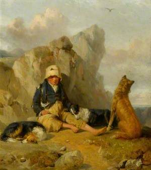 The Shepherd Boy with His Dogs