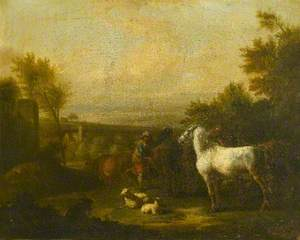 Landscape with a Drover, Cattle and Horses