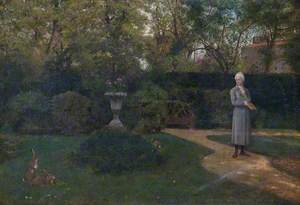 Cowper Walking in the Garden at Weston Underwood, Buckinghamshire