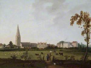 View of Olney Church from Emberton, Buckinghamshire