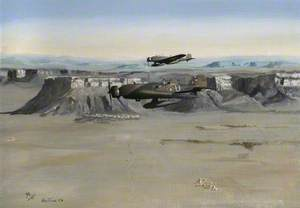 Vickers Wellesleys of No. 14 Squadron over Transjordan, 1939