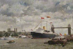 Elizabeth II Returning from the Commonwealth on the Royal Yacht 'Britannia'