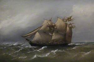 'HMS Fawn' Caught in a White Squall, Bass Straits, Australia (Commander, Ralph P. Cator)