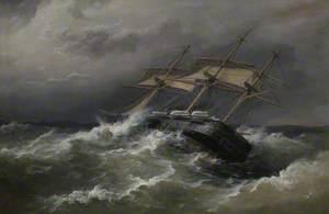 'HMS Defence' off Vigo, Spain, in Heavy Sea, 7 December 1876 (Captain, Ralph P. Cator)