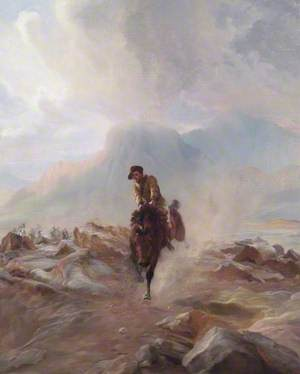 A Yeomanry Scout Galloping with Despatches in the Boer War
