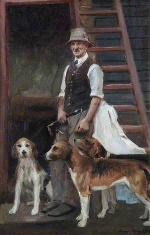 Kennel Man and Hounds