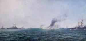 'HMS Victoria' off Tripoli, Lebanon, 22 June 1896