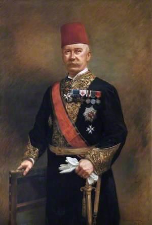 Pasha Crookshank in Diplomatic Dress and Fez
