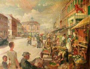 Market Day, High Street, High Wycombe, Buckinghamshire