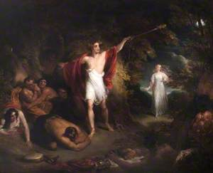 Comus and the Lady Benighted from John Milton