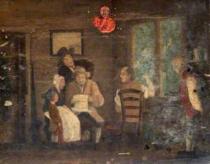 Interior, Five Figures and a Child