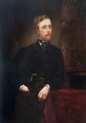 Portrait of a Gentleman Leaning on a Table