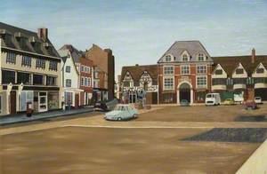 Sunday Morning, Banbury Market Square, Oxfordshire
