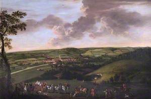 View of Henley-on-Thames, Oxfordshire, with a Hawking Party in the Foreground