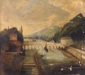 View Upstream of Maidenhead Bridge and Cliveden Reach, Maidenhead, Berkshire