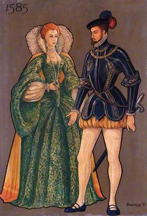 Soldier and Lady of 1585