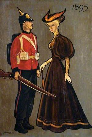 Soldier and Lady of 1895