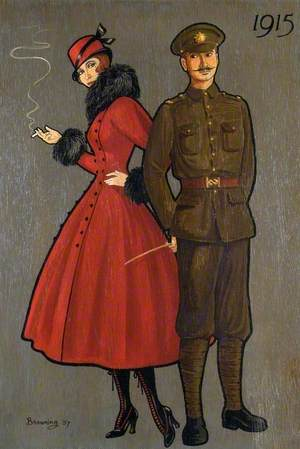 Soldier and Lady of 1915