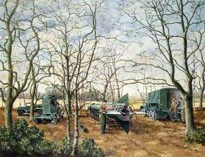 Soldiers in a Wooded Landscape