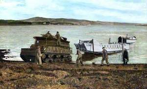 Beaching Landing Craft (Landing Craft, Assault), for Winter Storage at the End of Summer Training