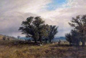 Landscape with Deer, Richmond Park