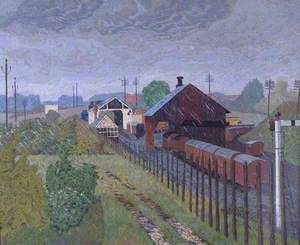 Thame Station in Rain, Oxfordshire