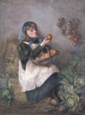 Young Woman with Fruit Basket