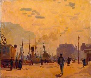 Smoke of the Fishing Fleet, Boulogne, France
