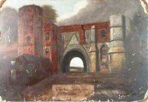 Leper's Gate, Reading Abbey, Berkshire, Gateway before Restoration