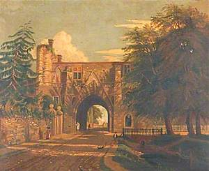 View of the Abbey Gateway, Reading, Berkshire