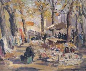 Market on the Dyver, Bruges, Belgium