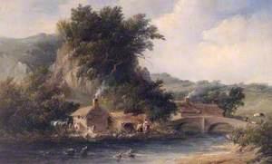 Scenes in Dovedale, Derbyshire