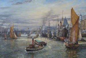 Victorian Shipping in the Pool of London