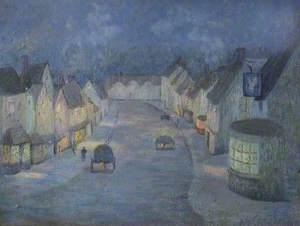 Burford, Oxfordshire, at Twilight