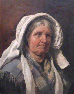 Cotswold Study, Head of a Woman