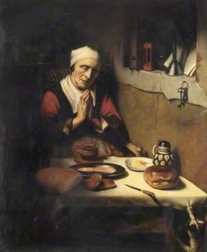 The Old Praying Woman