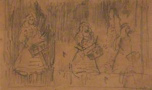 Study for the 'Three Drummers', or 'The Drummer Trio', or 'The Sisters X'