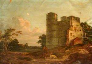 North West View of Donnington Castle, Berkshire