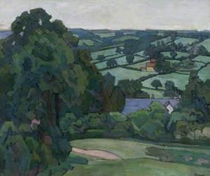 Landscape in the Blackdown Hills, Devon