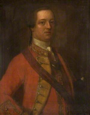 Portrait of an Officer in a Red Tunic with a Sash