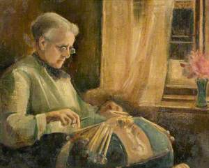 The Lacemaker (Mrs Newell Making Lace)