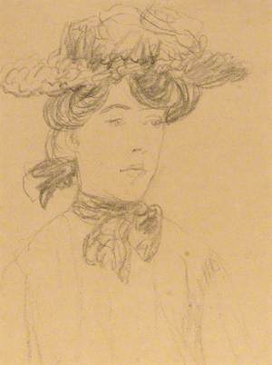 Winifred John in a Flowered Hat
