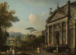 Capriccio with Facade of San Giorgio Maggiore, Venice, Italy