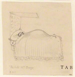 William Burges in Bed