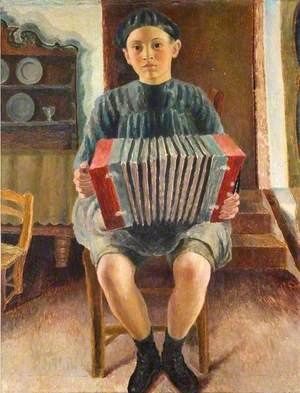 Spanish Boy, the Accordion Player