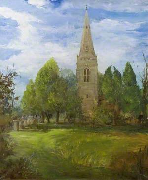 View of St Giles's Church, Desborough, Northamptonshire, from the South